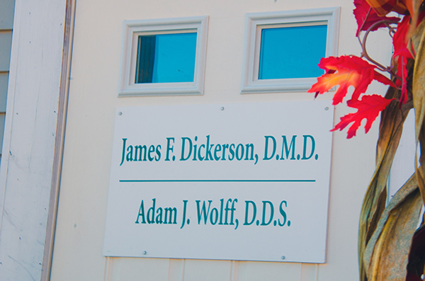 Office sign for Pediatric Dentistry of Salem located in Salem, NH
